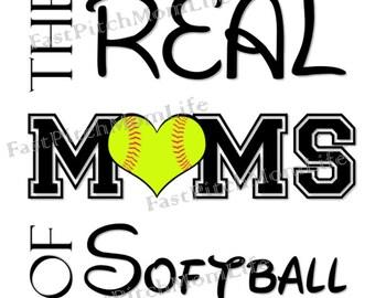 TShirt - Softball Mom - Real Moms of Softball