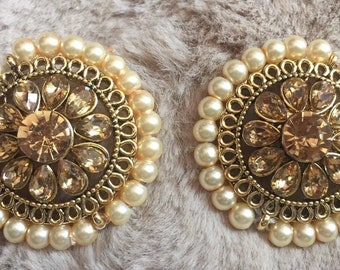 gold hoop with design have intricate jhumka pin indian a long small on drops and earrings india pearl they gorgeous are the