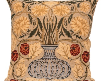 William Morris Design Pillow Cover - 18x18 Belgian Tapestry Pillow Cover - Throw Pillow Cover - Flower pillow cover -  PC-1127