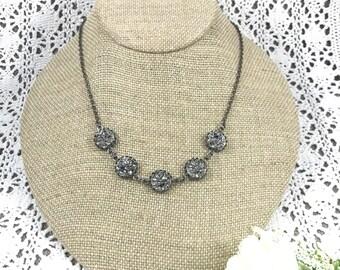 Gunmetal Druzy Necklace - Druzy - Druzy Necklace - Bridesmaid Gift - Druzy Jewelry - Gunmetal Jewelry - Gunmetal Necklace - Drusy - Jewelry