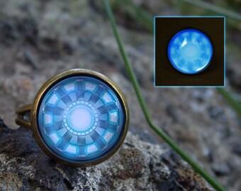 Glowing ring Glow in the dark Superhero ring Glow ring Glows ring Super hero ring Handmade accessories Personalized superhero accessories