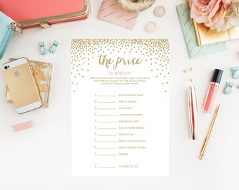 Instant Download - Confetti Shower The Price is Right Bridal Game Cards