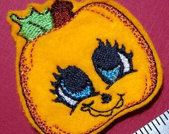 Sweet Pumpkin Feltie - Machine Embroidery Design. 4x4 hoop Instant Download. Felties. Halloween Feltie. Pumpkin. Feltie