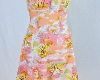 1950s Bombshell,sundress,dress,De Weese ,Swim and Sun Fashions,Los Angeles,California ,sun dress,50s,shirred dress