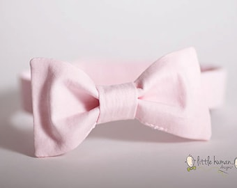 Pink Bow Tie - Light Pink Bow Tie Boys, Blush Bow Tie for Baby,  Pale Pink Bowtie, Ringbearer Outfit, Pink Wedding Bow Tie Baby Boy Bowties