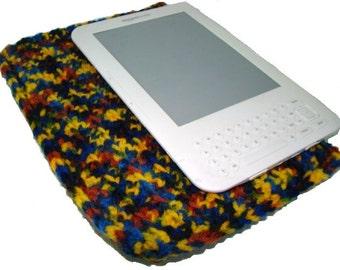 Kindle Cozy, eReader Cozy, Nook Cozy, Crochet Kindle Cover, eReader Sleeve, Nook Cover, Multicolor Nook Cozy