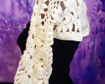 Lace Crochet Bolero/ Wedding Bolero/ Wedding crochet Shrug/ Ivory Lace Bolero/ Crochet Ivory shrug/ Crochet Lace Shrug/ Christmas gift