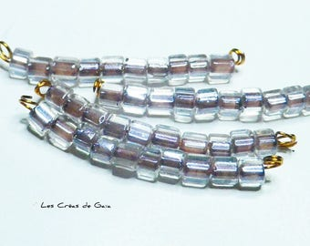1 x strand of 10 square glass beads