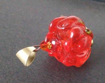 Necklace murano glass Peony