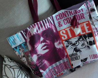 Tote style fashion, models and magazines