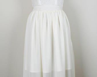 Lace and Chiffon Maxi Dress