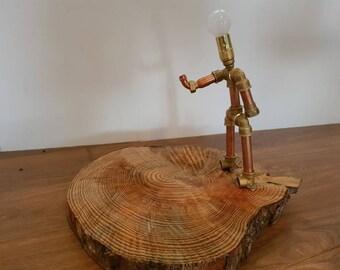 """Copper lamp """"Le Petanque"""""""