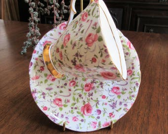 Chintz Cup and Saucer England