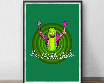 Pickle Rick - Rick and Morty Inspired Art Print - (Available in Many Sizes)