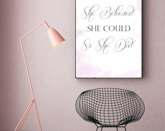Feminist quote print  , Beauty gift, grl pwr, women's movement, the future is female,