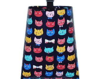 Laminated Cotton Trash Bag  -  Cat's Meow
