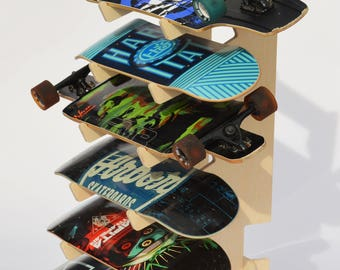 Birch Floor Skateboard Longboard Rack