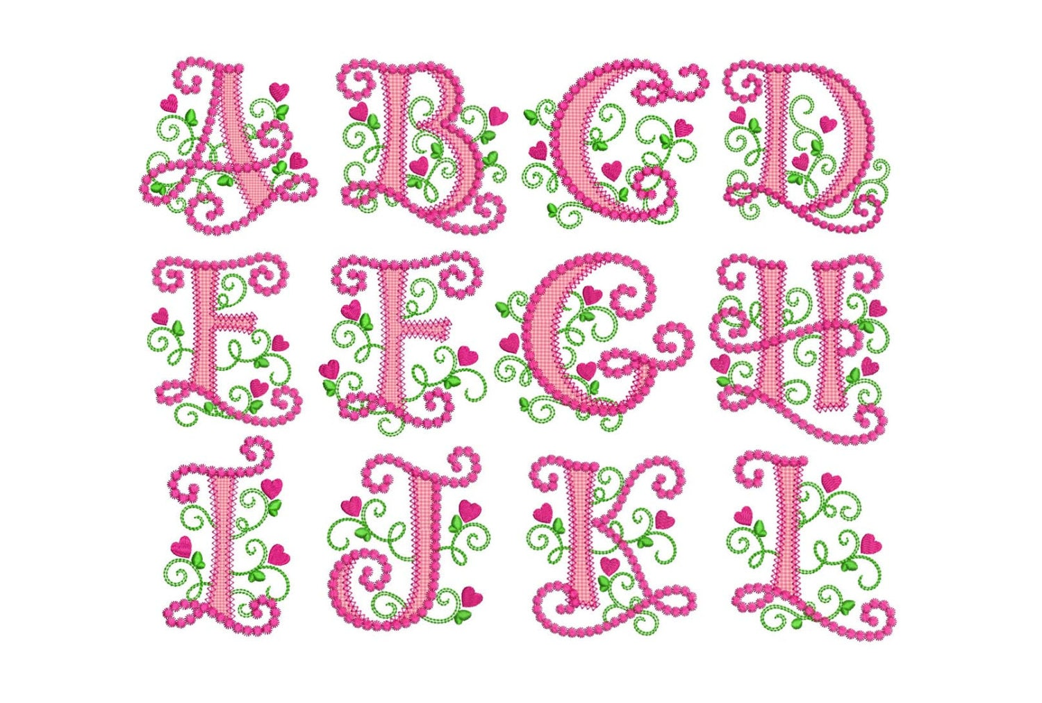 Coupon codes cute alphabet applique machine embroidery design zoom altavistaventures Images