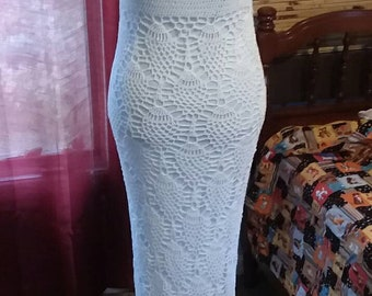 Crochet Wedding Dress Pineapple Stitch