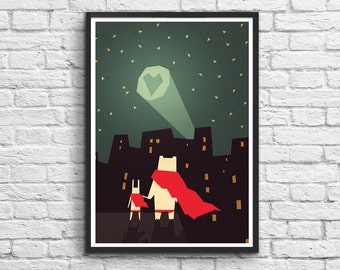 Art-Poster 50 x 70 cm for kids - This city need love
