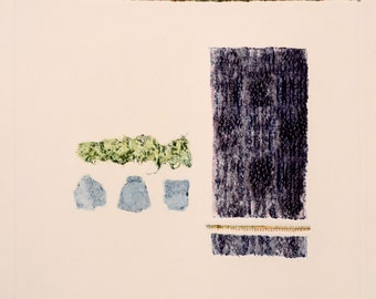 Abstract III Print (color, light) - Collagraph