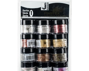 Pearl Ex Series 1 Powdered Pigments set. 3g - 12/Pkg,  by Jacquard.  Mica, powdered pigments