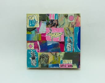 Mixed Media Outsider/ Folk Collage