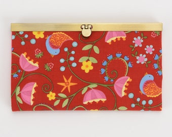 Strawberry Festival Diva Wallet, Clutch Wallet, Diva Frame, Checkbook Holder, Credit Card Holder, Women's Wallet, Clutch Purse