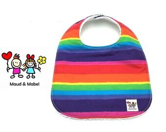 Rainbow - Baby Bibs - Handmade Baby Bib - Baby Shower Gift - Bandana Bib - Baby Feeding
