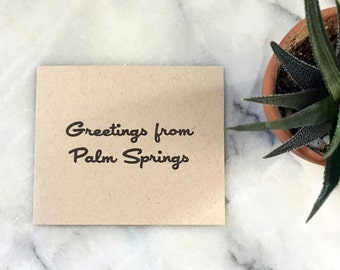 Greetings From Palm Springs, set of 4 cards with envelopes