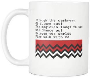 Fire Walk With Me - Complete Poem - Twin Peaks Coffee Mug