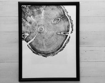 Tree ring art, Tree inspired art, pine tree, woodcut art, tree ring print, Best Dad Gifts, Father's Day Ideas, Father's Day gifts, Dad art