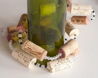 Wine Cork Garland, wine decor, wine cork crafts, wedding decoration, Wine Themed Wedding, Wine Gift
