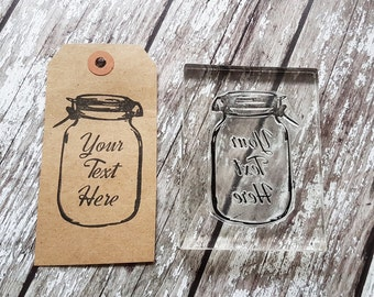 Custom Mason Jar stamp custom stamps monogrammed handmade gifts