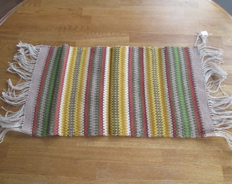 Hand Woven Table Scarf or Runner Reversible