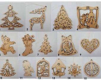 Wooden Christmas ornaments  Ukrainian Christmas decorations Christmas tree toy New home ornament Christmas gift from Ukraine