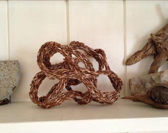 Natural flowing original sculpture crocosmia leaves art