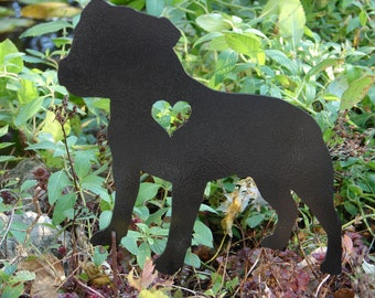 Staffordshire Bull Terrier Pet Dog Memorial GARDEN STAKE K9 Yard Ornament