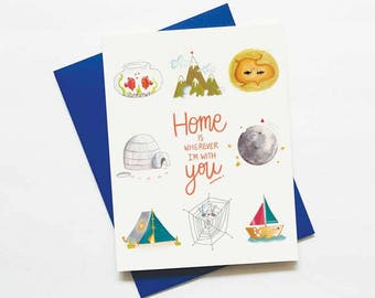 home is with you - love card