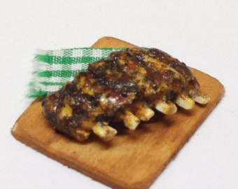 1:12 Rack of ribs dollhouse miniatures