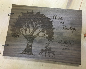 Personalized Wedding Guest Book | Guest Book Alternatives | Engraved Guest Book | Wooden Guest Book | Wood Guest Book Alternative | Wedding