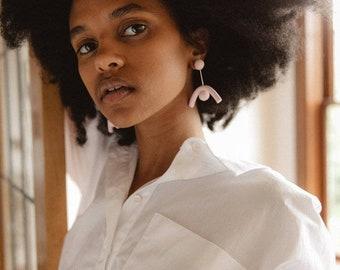 Dazed Earrings | Minimal Arch Clay Jewelry Modern Contemporary Post Earrings