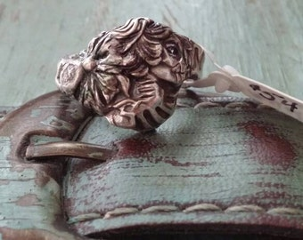 silver Victorian cameo skull ring