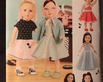 Simplicity 8072   Elaine Heigl Designs   18 in Doll Clothes