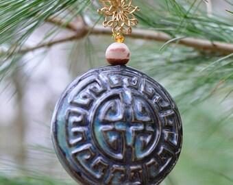Home ornament, home decor, hostess gift, pottery ornament, stoneware ornament, gift for her, handmade ceramic ornament