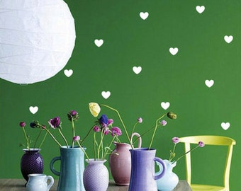 Heart Wall Decal Sticker, Nursery Heart Wall Decal, vinyl wall decal stickers, Room Decor, Peel Stick, Boy Girl Wall Art, Bedroom Wall