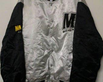 Vintage Malts baseball team bomber jacket