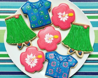 One Dozen Luau Sugar Cookies