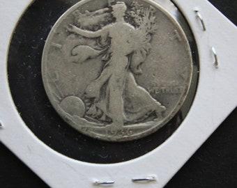 1936 S Walking Liberty Half dollar