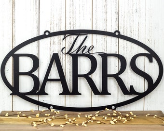Family Last Name Metal Sign | Custom Sign | Personalized Sign | Wedding Gift | Family Name Sign | Outdoor Sign | Metal Wall Art | Steel Sign